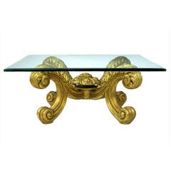 Hand-Carved and Gilt Spanish Rococo Coffee Table