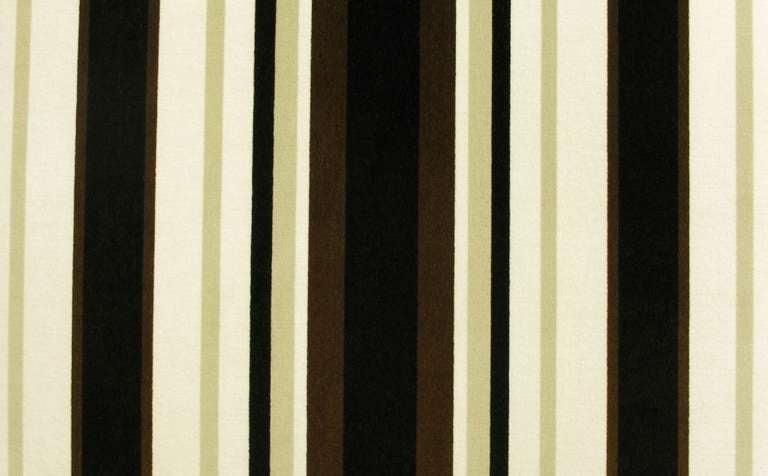 Wood Marden Even-Arm Striped Velvet Tuxedo Sofa For Sale