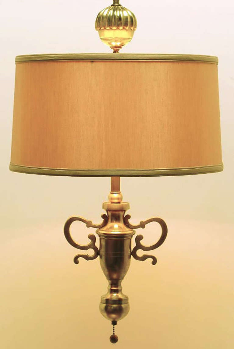 American Rare Marbro Brass Empire Style Pendant Lamp For Sale