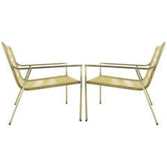 "Pair of Giandomenico Belotti ""Spaghetti"" Lounge Chairs"