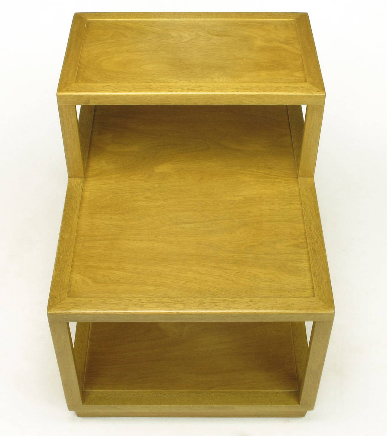 Edward Wormley Bleached Mahogany Tiered End Table for Dunbar 4