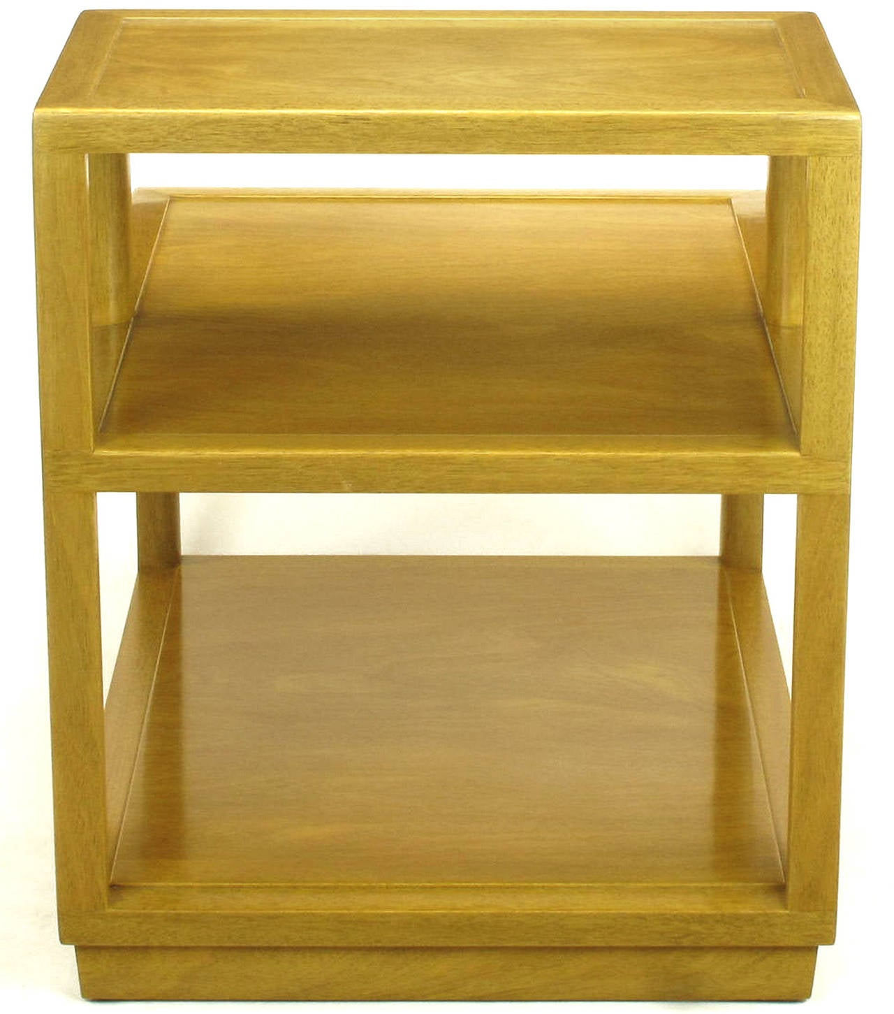Edward Wormley Bleached Mahogany Tiered End Table for Dunbar 6