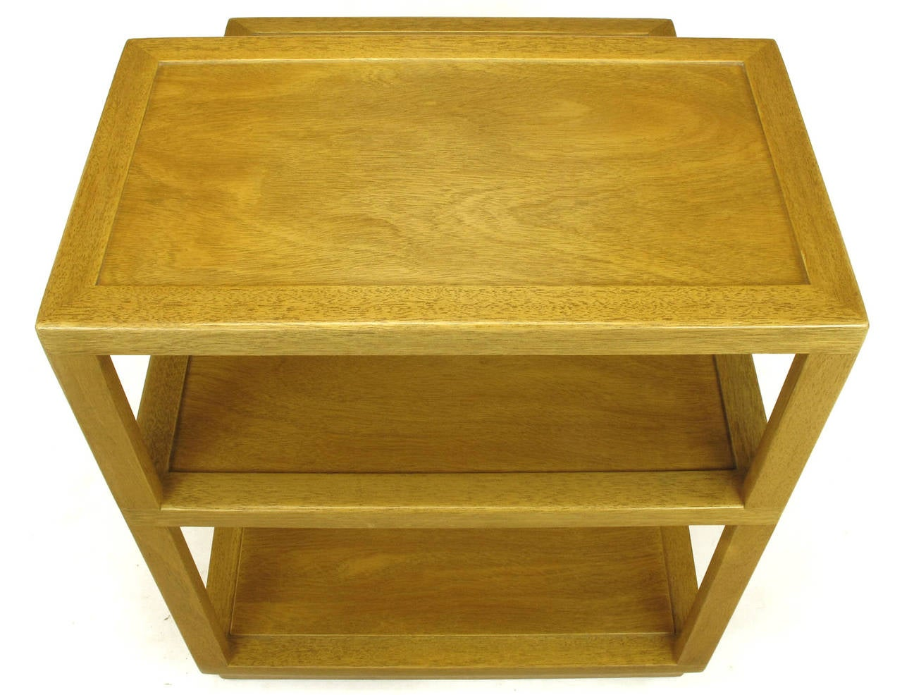 Edward Wormley Bleached Mahogany Tiered End Table for Dunbar 9