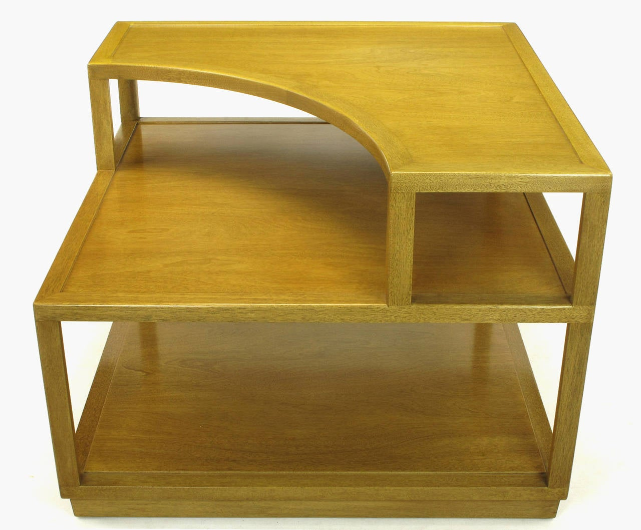Mid-20th Century Edward Wormley Bleached Mahogany Corner Table for Dunbar For Sale