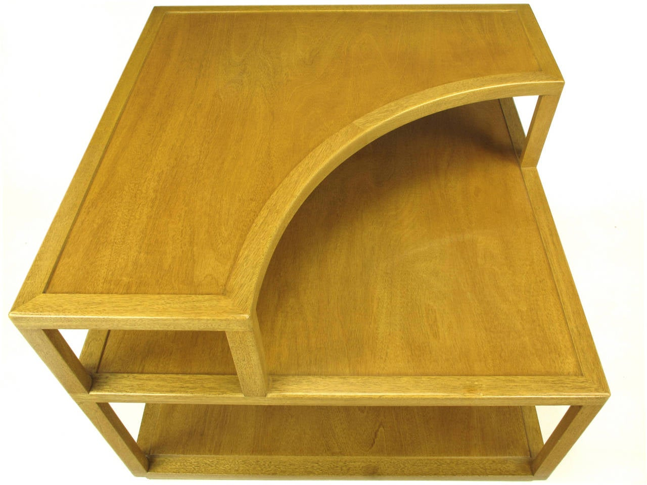 Edward Wormley Bleached Mahogany Corner Table for Dunbar For Sale 4