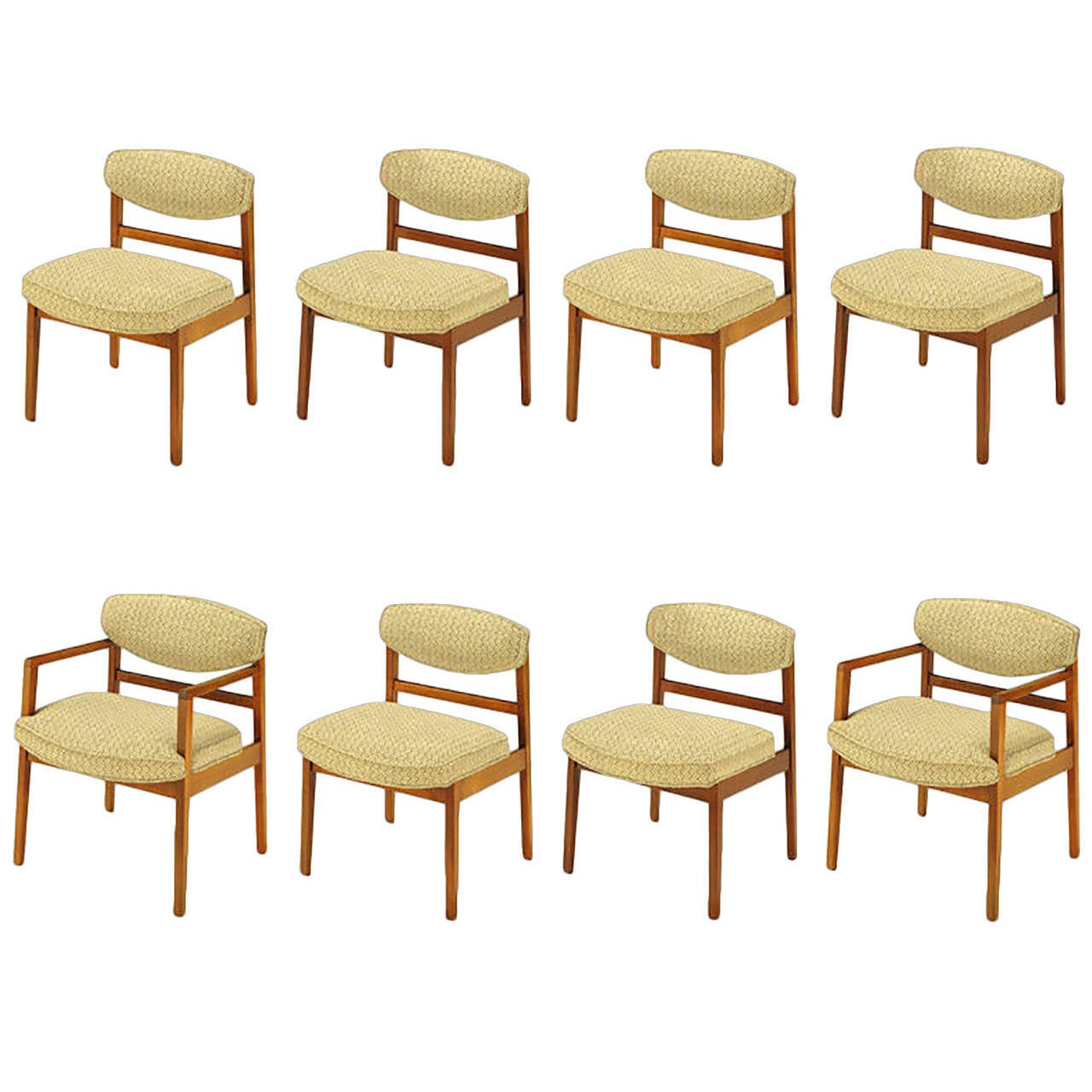 Eight George Nelson For Herman Miller Teak Dining Chairs 1