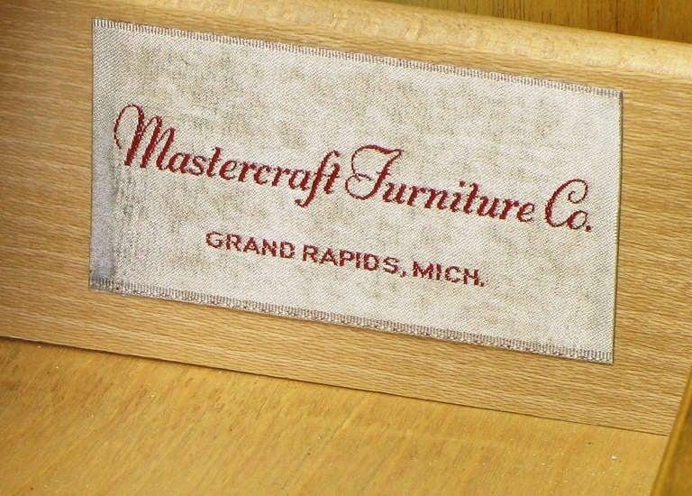 Mastercraft Amboyna Burl and Brass Greek Key Sideboard For Sale 4