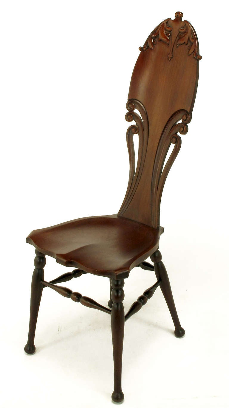 Early 1900s Carved Mahogany Art Nouveau Music Chair At 1stdibs