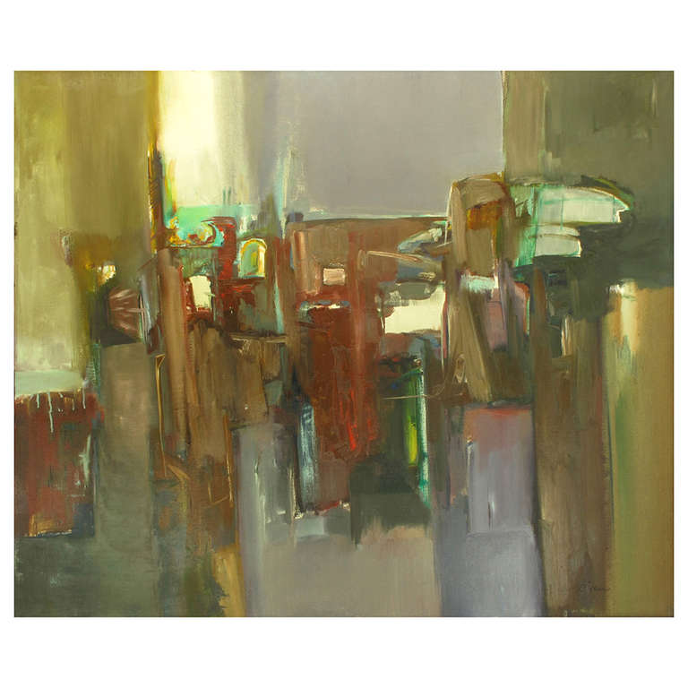 """Janine Collier Oil on Canvas Titled """"Berceuse"""" American, 20th Century"""