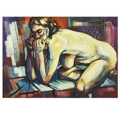 Robert J. Cronauer Expressionist Nude Painting