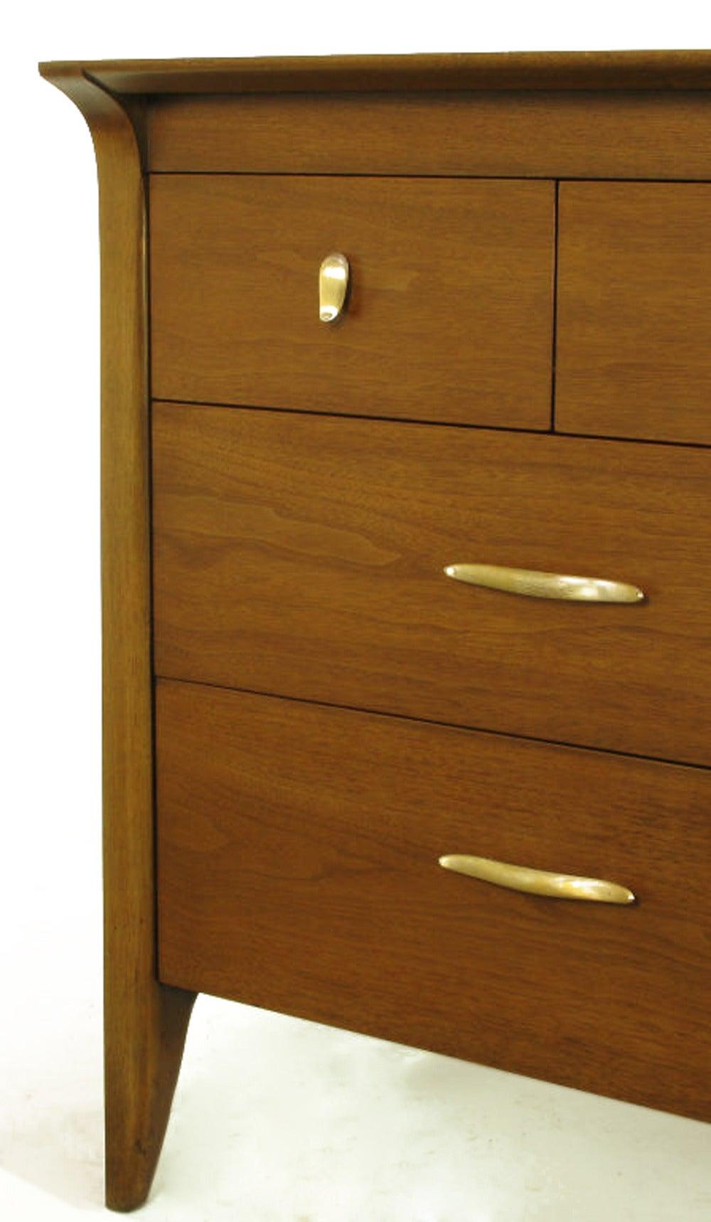 Mid-20th Century John Van Koert Profile Collection Walnut Dresser