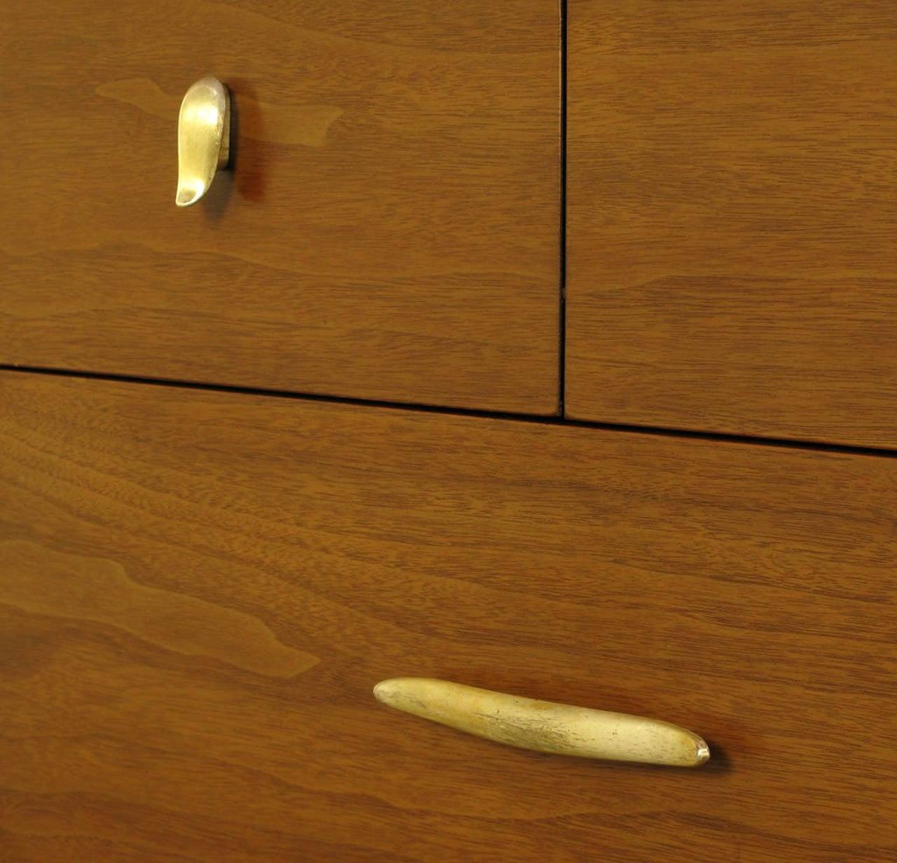 Aluminum John Van Koert Profile Collection Walnut Dresser