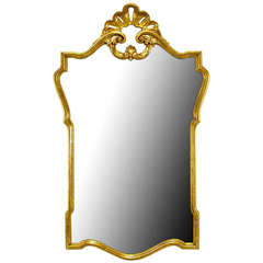Gilt Carved Wood French Regency Style Mirror