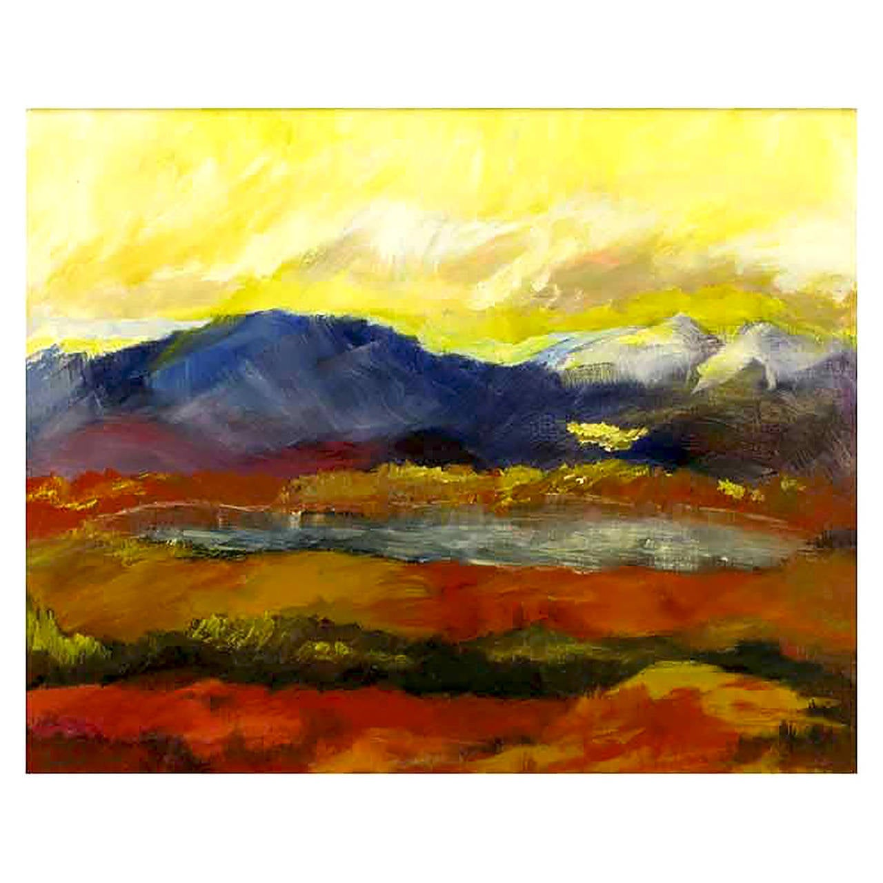 Expressionist Landscape Oil Painting by Barbara Leadabrand
