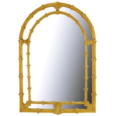 Arched Top Mirror of Umber Glazed Vines