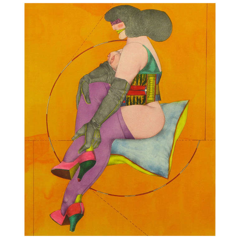 "Richard Linder (1901-1978) Lithograph Titled "" Circle & Pillow"""