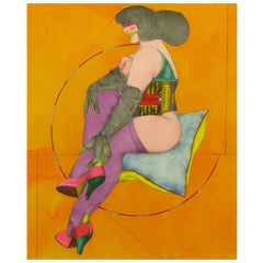 "Richard Lindner (1901-1978) Lithograph Titled "" Circle & Pillow"""