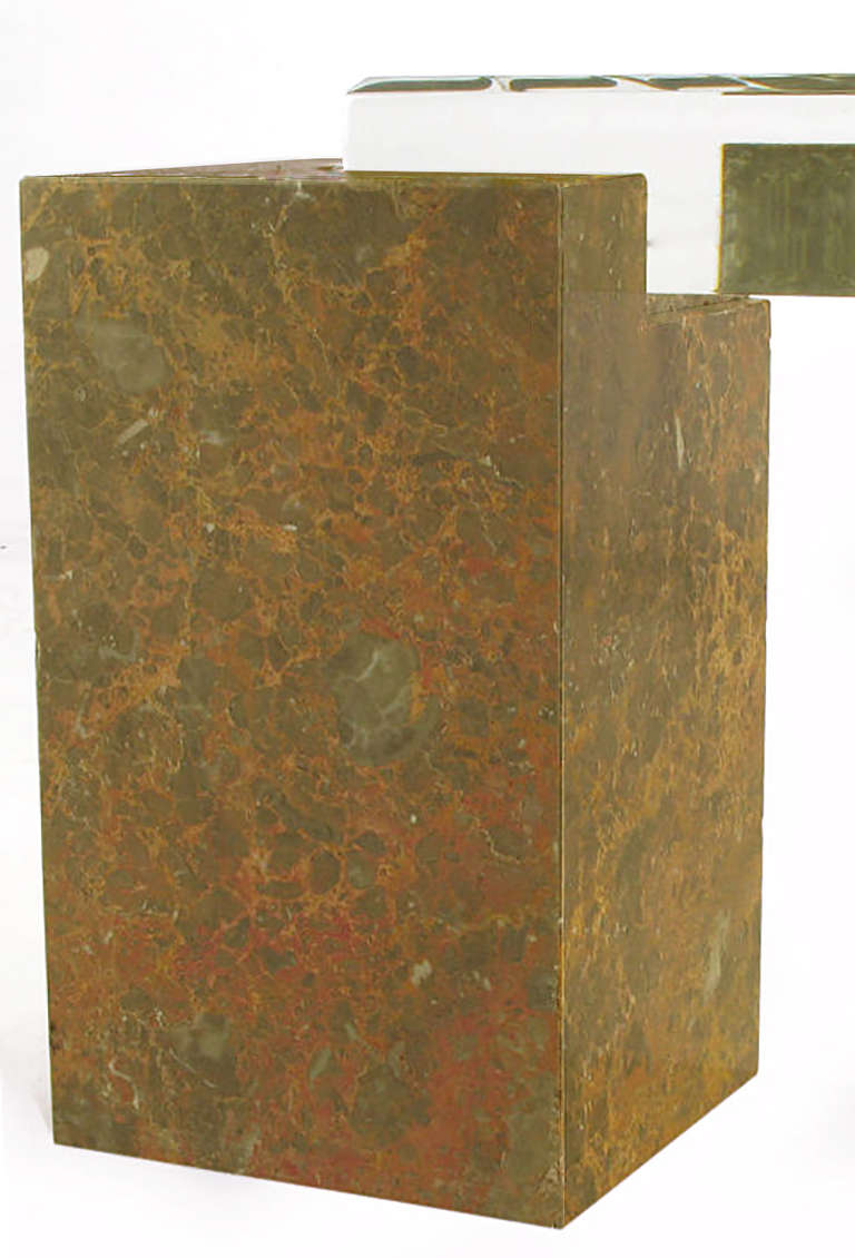 Red Marble Top : Brazilian red marble column coffee table with quot thick