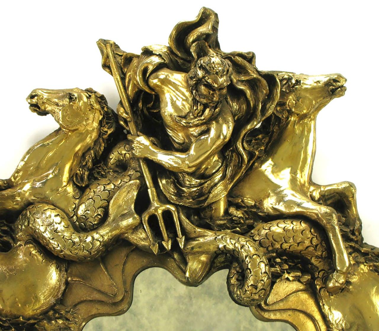 Large Mirror Depicting Mythological Poseidon With