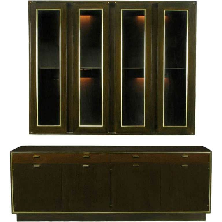 Harvey Probber Mahogany Sideboard with Floating Wall Cabinet For Sale