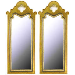 Pair of Gilt Moroccan Style Wall Mirrors