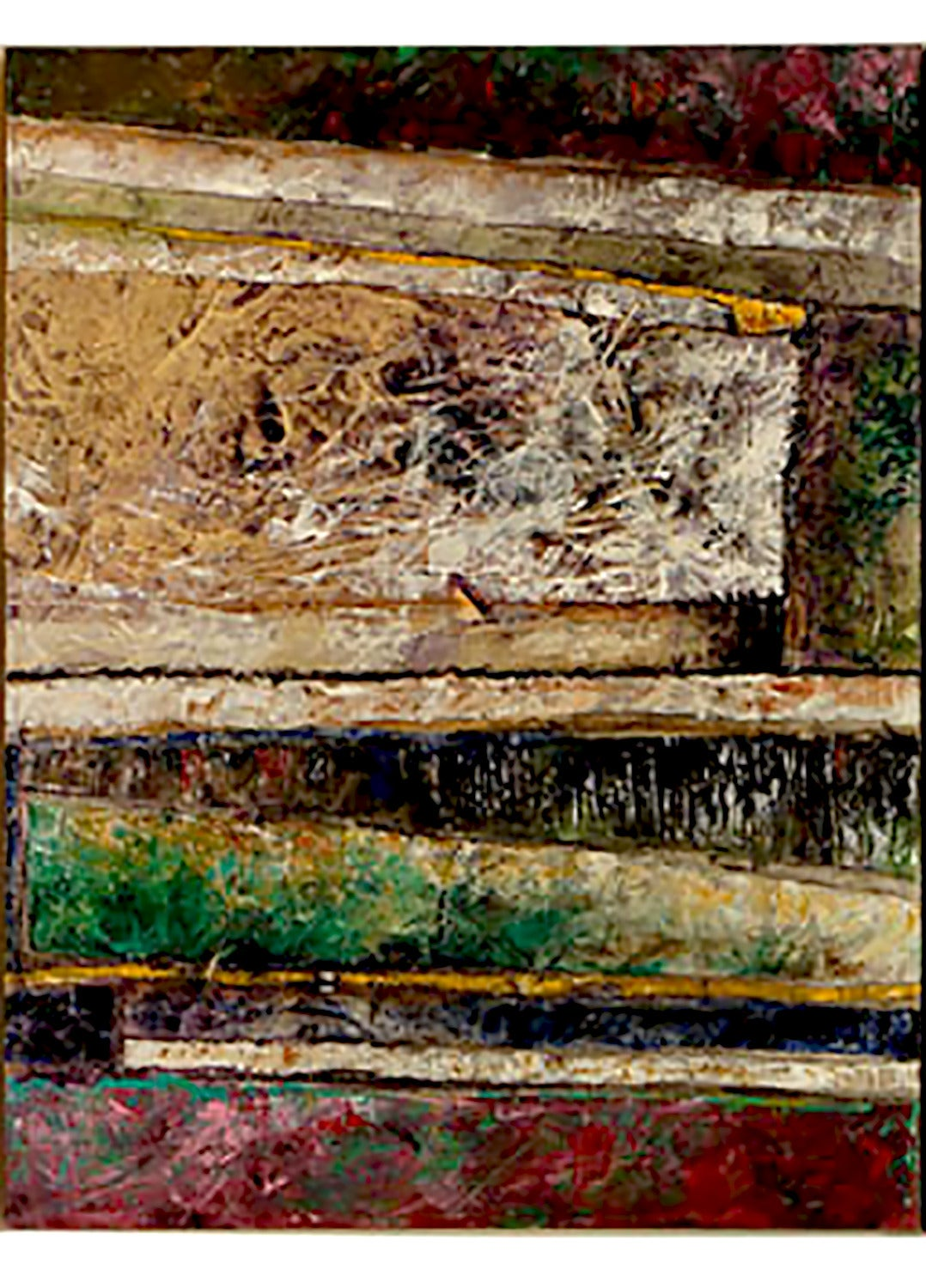 American Juan Carlos Macias Abstract Triptych Painting For Sale