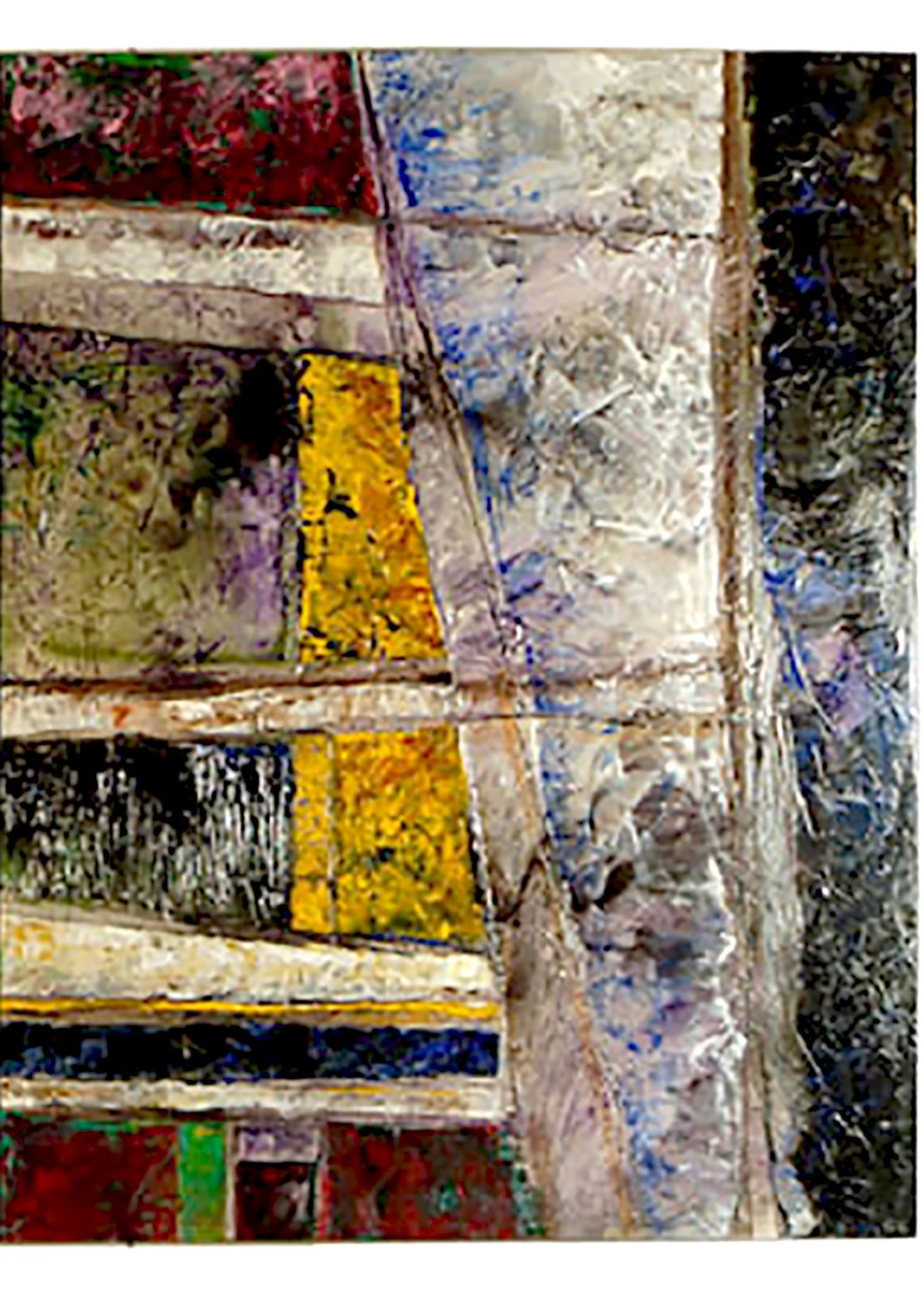 Juan Carlos Macias Abstract Triptych Painting In Excellent Condition For Sale In Chicago, IL