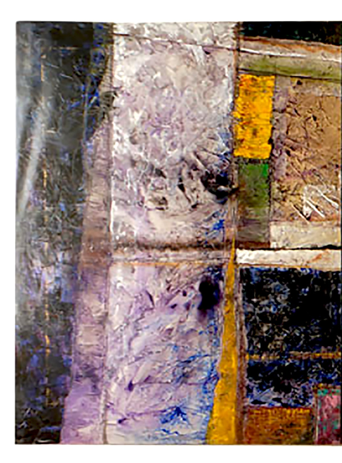 Over 7 feet tall and 20 feet wide, this colorful acrylic on canvas abstract expressionist painting is by Mexican-born Juan Carlos Macias, who resides in Chicago. Photographs do not do justice to this early work by Macias. Each 88