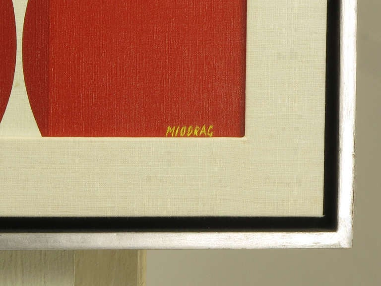 Dordevic Miodrag Op Art, Oil on Canvas 6