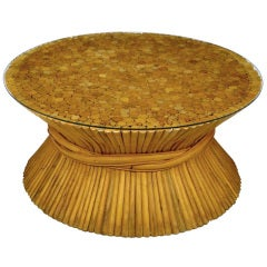 Sheaf of Bamboo Coffee Table Attributed to McGuire