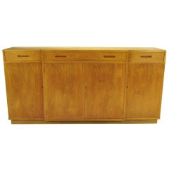Edward Wormley Bleached Mahogany Breakfront Cabinet