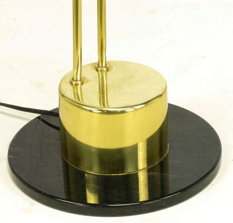 Postmodern Articulated Brass and Black Marble Floor Lamp 7