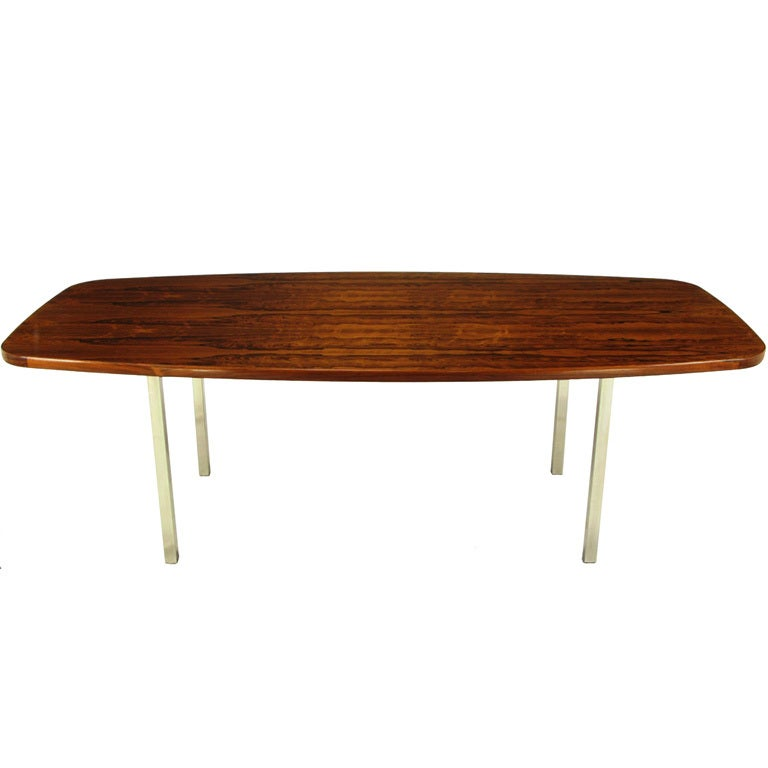 Dunbar Rosewood Dining Table With Polished Stainless Steel  : XXX841913071436561 from 1stdibs.com size 768 x 768 jpeg 24kB