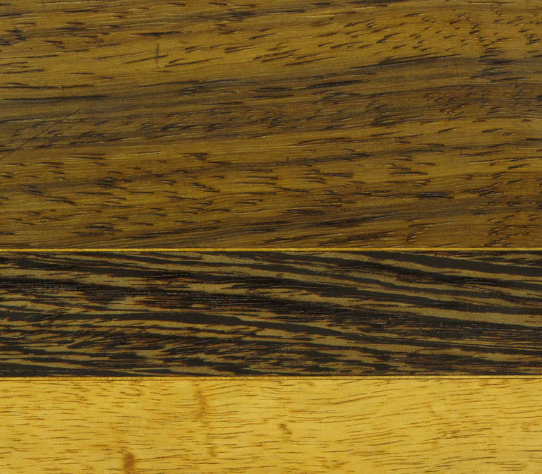 Exotic Wood Parquetry Studio Coffee Table For Sale 3