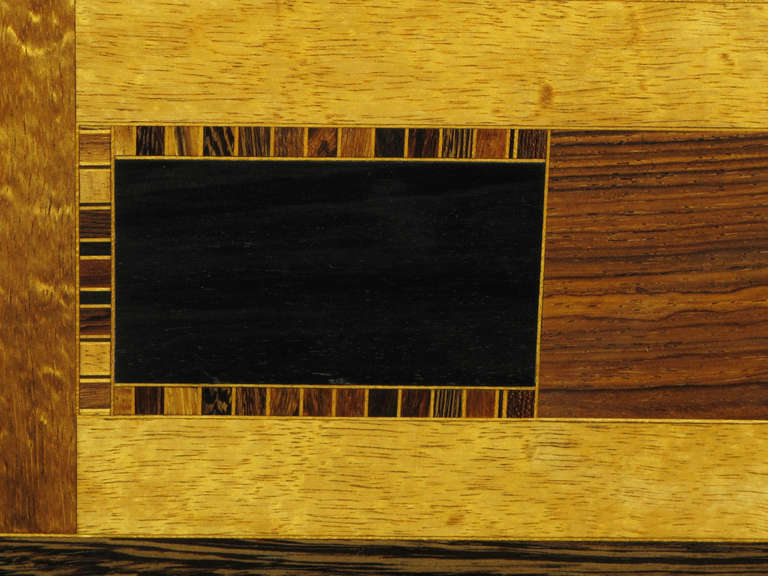 Exotic Wood Parquetry Studio Coffee Table For Sale 2
