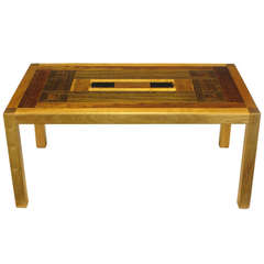 Exotic Wood Parquetry Studio Coffee Table