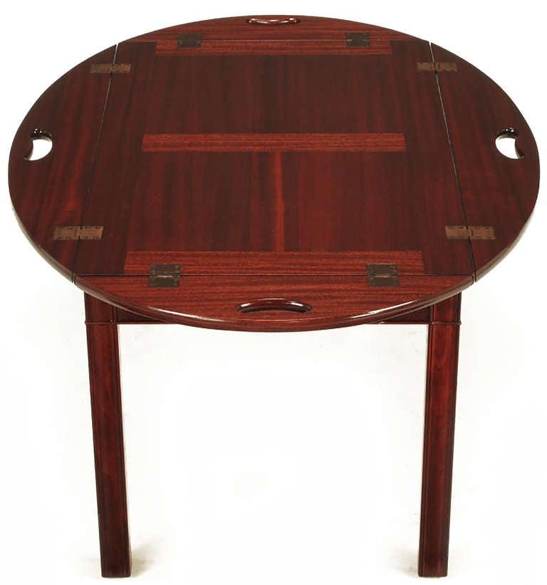Nathan Margolis Shop Ribbon Mahogany Butler's Tray Table