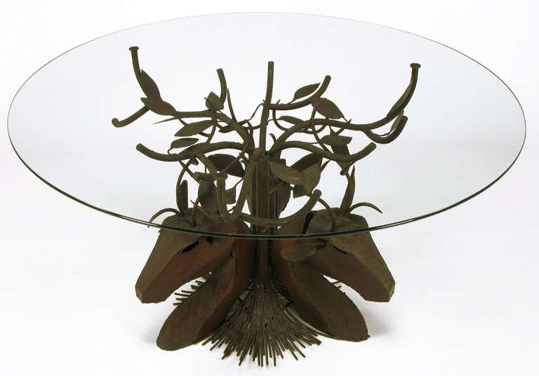 Studio Steel Sculpture Deer Trio Dining Table 5