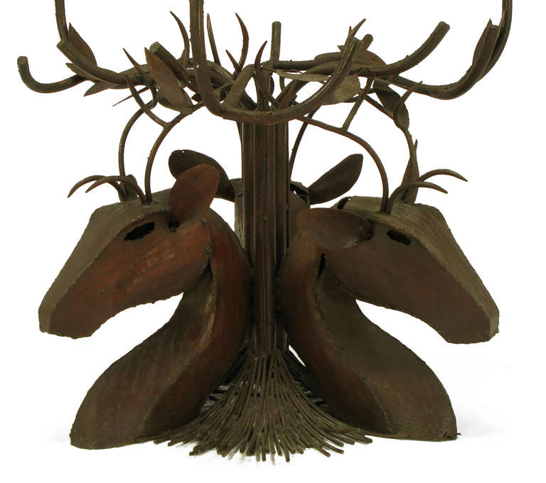 Studio Steel Sculpture Deer Trio Dining Table 6