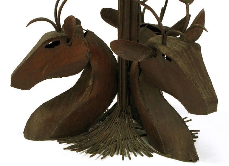Studio Steel Sculpture Deer Trio Dining Table For Sale 2