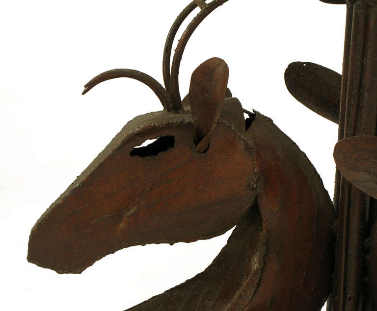 Studio Steel Sculpture Deer Trio Dining Table 8