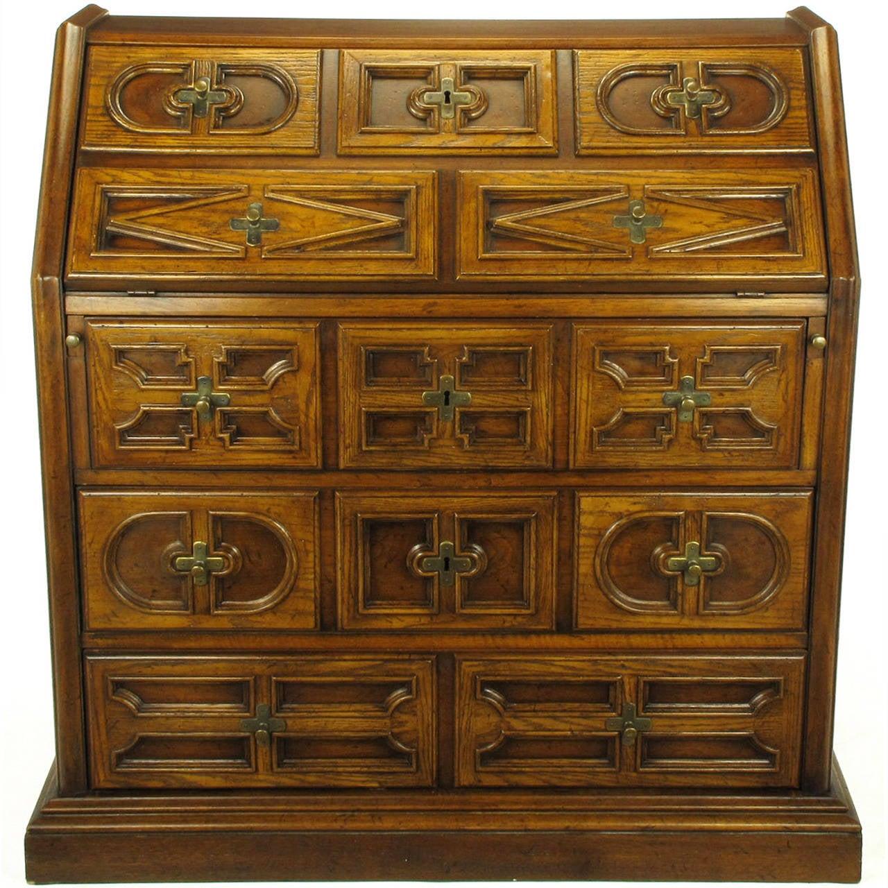 Drexel Sandia Collection Jacobean Drop-Front Desk