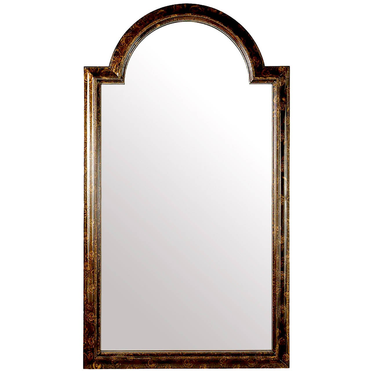 Arched gilt mirror at 1stdibs - Labarge Palladian Arch Top Mirror In Faux Tortoise Finish 1