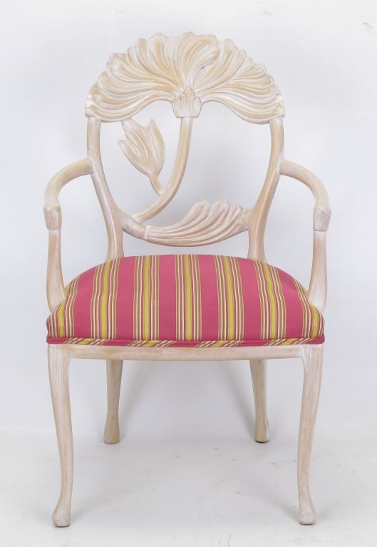 Set four italian lime washed floral back dining chair at 1stdibs Lime washed bedroom furniture
