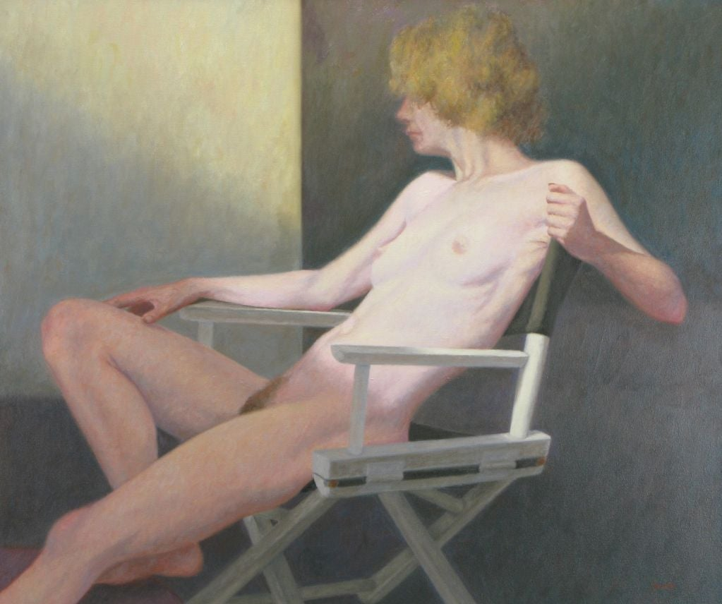 "Robert Kinsell 33""x 39"" Oil Painting of Reclining Nude Woman 2"