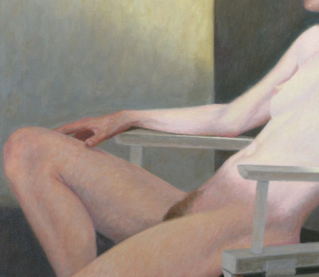 "Robert Kinsell 33""x 39"" Oil Painting of Reclining Nude Woman 4"