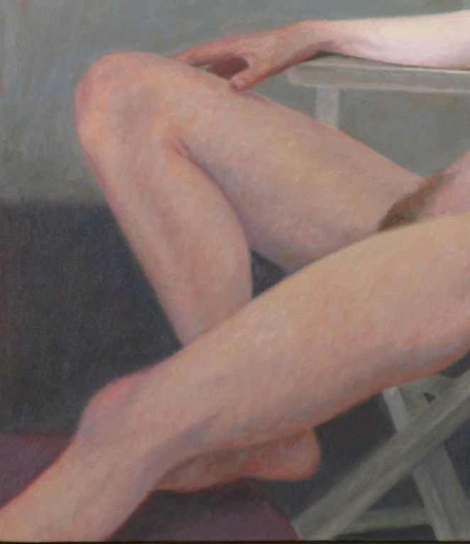 "Robert Kinsell 33""x 39"" Oil Painting of Reclining Nude Woman 5"