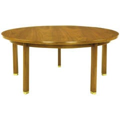 Uncommon Edward Wormley Five-Leg Walnut Coffee Table for Dunbar
