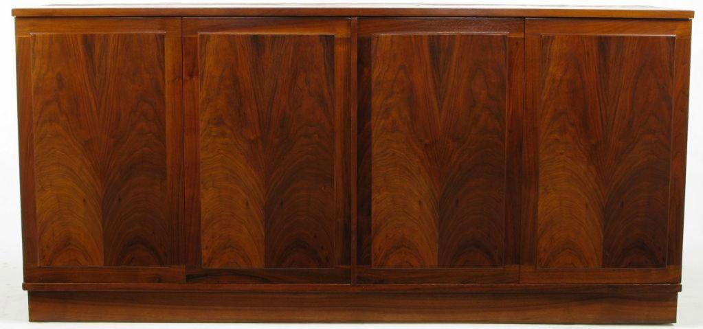 Honduran Rosewood Book Matched Four Door Cabinet At 1stdibs