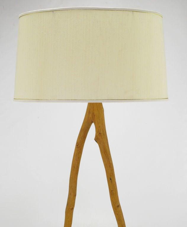 Adirondack Style Wood Floor Lamp At 1stdibs
